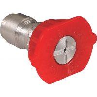 red pressure washer nozzle